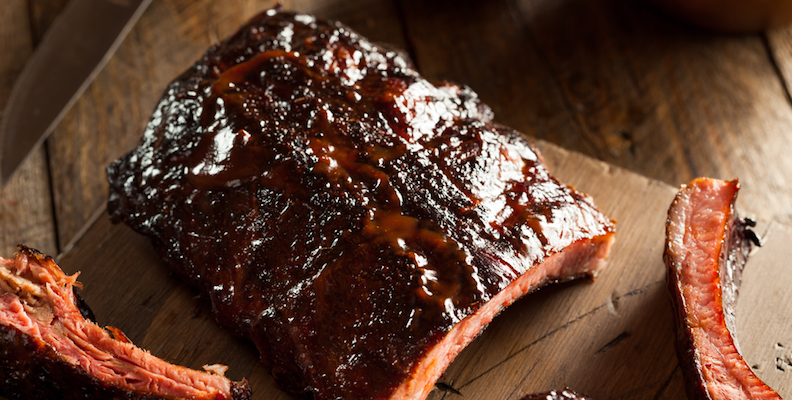 Sticky pork ribs marinaded in black vinegar, muscovado and ...
