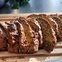 Soda bread made for the Anna Jones ' A Modern Wy To Eat' Cookbook Club at Borough Market.
